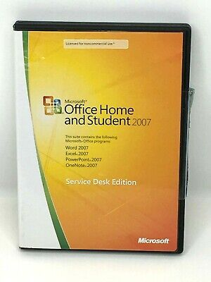 Microsoft Office Home and Student 2007 Service Desk Edition with Product Key