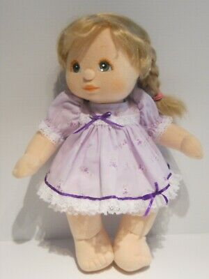 My Child Doll Dress in Lavender Floral Fabric with White Pants