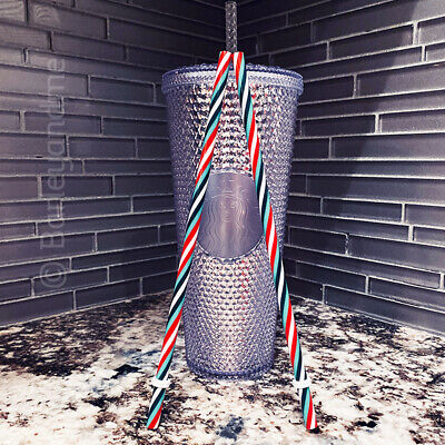 NEW STARBUCKS 2019  Platinum Studded Cold Cup Tumbler WINTER HOLIDAY NEW