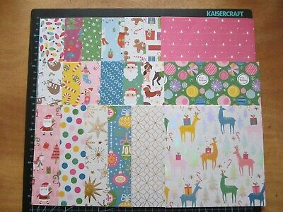 """SCRAPBOOKING PAPERS -6"""" x 6"""" - 20 sheets - FESTIVE POP - CHRISTMAS"""