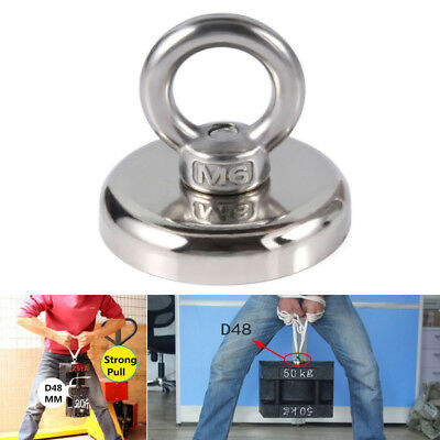 AU_ Recovery Magnet Hook Strong Sea Fishing Diving Treasure Hunting Flying Ring
