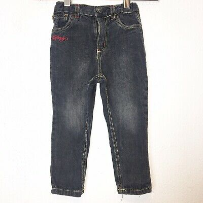 Ed Hardy Boys Gray Tiger Straight Leg Jeans Size 2T