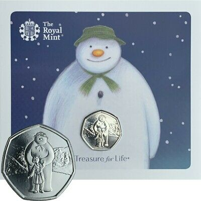IN STOCK NEW Christmas 2019 Snowman and James 50p Coin Royal Mint BU Folder