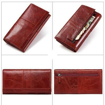 Women Ladies Genuine Leather Wallet Long RFID Purse Card Phone Holder x