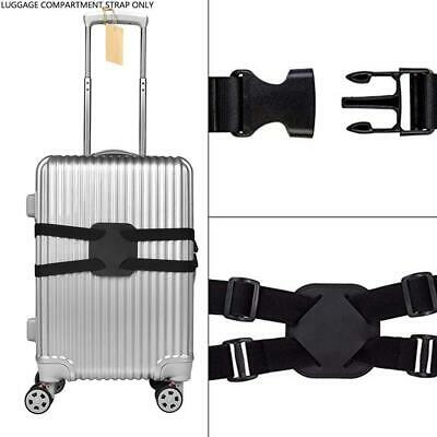Heavy Duty Adjustable Luggage Straps Cross Travel Suitcase Packing Backpack Belt