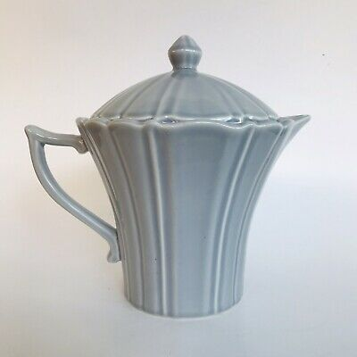 Mid Century TABLE D'HOTES FRANCE Blue Grey Tea Coffee Pot Vintage French Ceramic