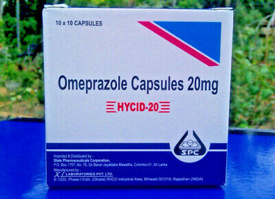 Omeprazole 20mg OTC 100-1000 Capsules Acid Re flux Heart Burn Reducer Treatment