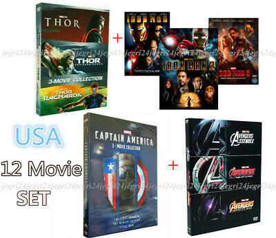 Marvel Trilogies Collection IRON MAN, CAPTAIN AMERICA, THOR & THE AVENGERS *NEW*