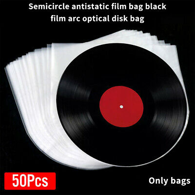 50X/set Protective Bag Vinyl Record Cover Inner Sleeves Anti Static PE Clear NEW