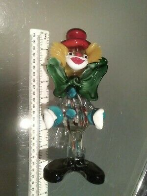 Vintage Italian Murano Glass Clown 8inch genuine old vgc
