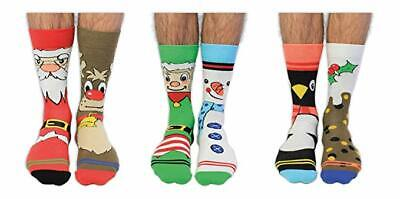 United Oddsocks Santa Banta Christmas Socks - Novelty Gift Ideas for Men