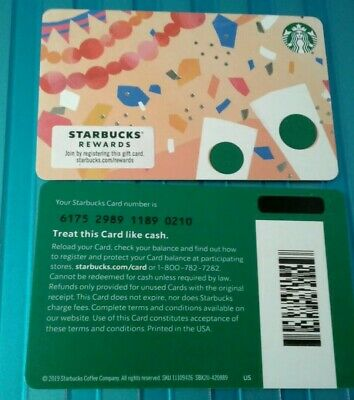 #6175 STARBUCKS FIESTA CELEBRATE GIFT CARD, COLLECTIBLE, MINT, 2019 Recycled