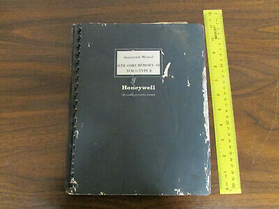 Honeywell Instruction Manual Magnetic Core Memory System TCM-31 Type B 1966