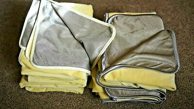 8 Radiation Shielding Blankets Lot - Silver Fibre Fabric EMF Protection Blocking