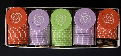 Lot of 97 Three Circle Vintage Clay  Casino Gambling Poker Chips