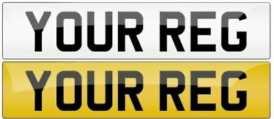 Pair Of Car Number Plates Mot Compliant With Free Fitting Kit