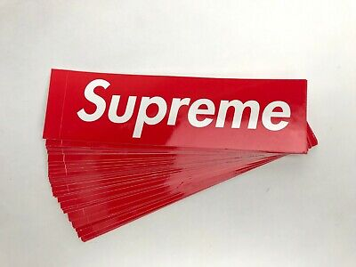 Authentic Red Supreme Box Logo Stickers | Luggage Waterproof Laptop Skateboard