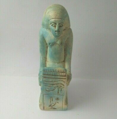 RARE ANCIENT EGYPTIAN ANTIQUES Statue of Pe-Kher-Kons - Horus Eye  1254-112 BC