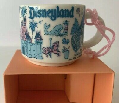 Disney Parks Disneyland Starbucks Been There Pin Drop Mug Ornament - 2 fl oz HTF