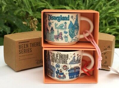 Disneyland Disney California Adventure Starbucks Been There 2oz Mug Ornament Set