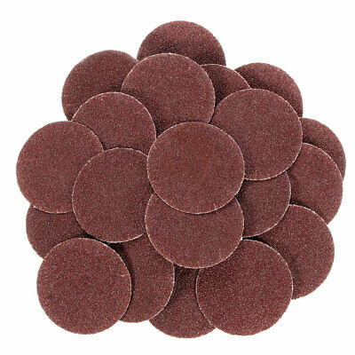 25pcs 2 Inch 60 Grit Roll Lock Sanding Disc with Pad Holder R-Type Abrasive Tool