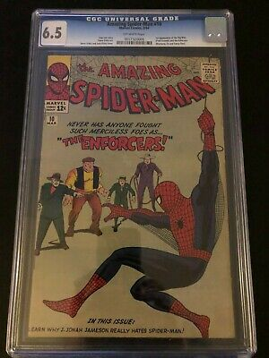 1st Big Man & Enforcers in Amazing Spider-man #10 comic CGC 6.5