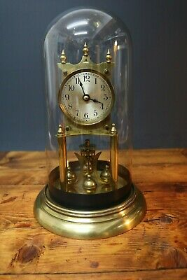 Kieninger & Obergfell Skeleton Clock Glass Dome Case Mechanica Made in Germany