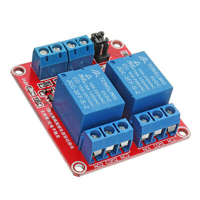 5Pcs 5V 2 Channel Level Trigger Optocoupler Relay Module For Arduino