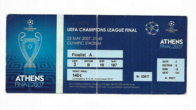 Complete Ticket 2007 UEFA Champions League Final - AC MILAN v. LIVERPOOL