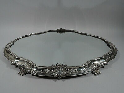 Antique Plateau - Large Rococo Revival Centerpiece - French 950 Silver