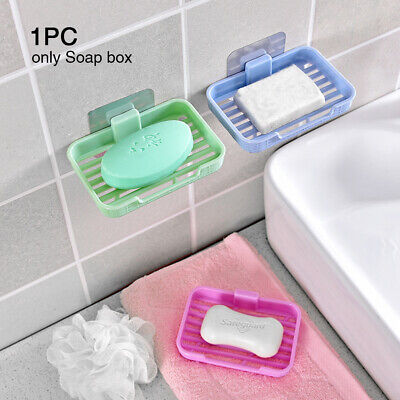 Water Drain PP Hanging Holder Soap Box Dish Accessories Wall-mounted Punch Free