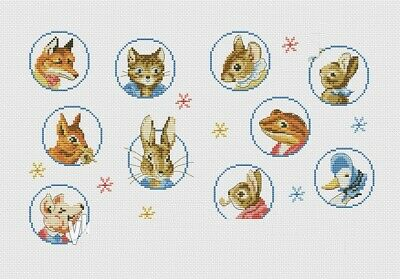 Beatrix Potter Circles Cross Stitch Chart