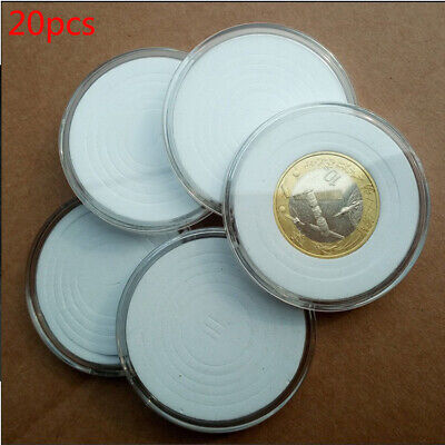 20pcs Adjustable Display Box Portable Clear Coin Holder Container Storage Case