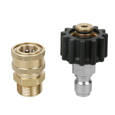 M22 Easy Install Quick Connect Kit Pressure Washer 14mm Female To Male Thread-on