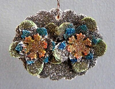 Antique German Christmas Tree Cardboard Ornament  With Mica 1930s