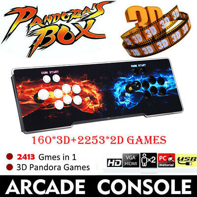 2413in1 Pandora's Box Classic Video Games Double Stick Arcade Console Support TV