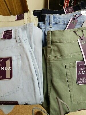 Gloria Vanderbilt Amanda Colored Jeans NWT Assorted colors and sizes