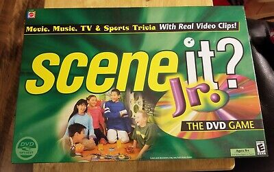 SCENE IT? JR. DVD Trivia Board Game by MATTEL *New & Sealed*