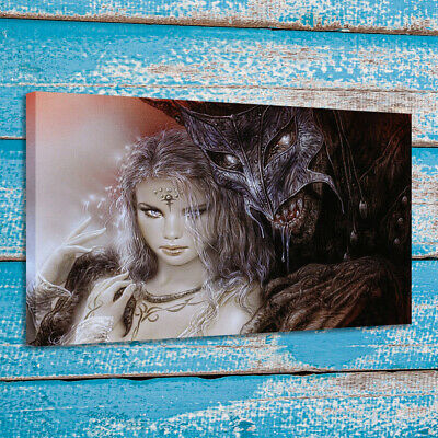 Print Art Painting Luis Royo Angels and Demons Home Wall Decor on Canvas 24x32