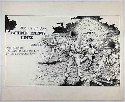 Mitch o'Connell Arte Behind Enemy Líneas Original Anuncio VG