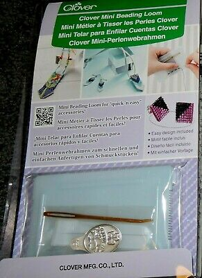 Clover Mini Bead Loom Kit Bobbin Needle Instructions Fun Creative Craft Weaving