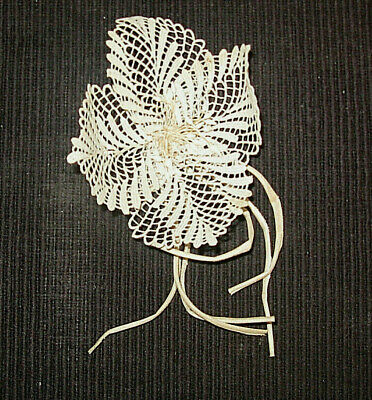 Vintage Floral Corsage.  Probably 1940'S Cram Colored Stiffened Lace.