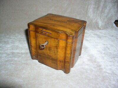 Very Rare Exceptionally Olivewood  Victorian Tea Caddy from Jerusalem