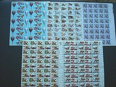 5 -  .20c to .35c Mint Sheets U.S Never Hinged Postage Stamps Face $59.00