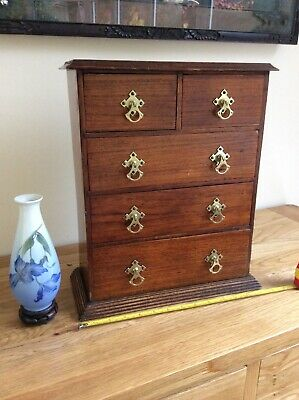 Antique Victorian Specimen Chest or Apprentice chest of drawers