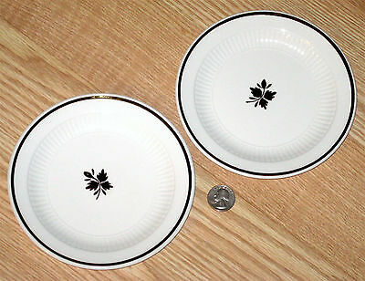 2x ADAMS TEA LEAF copper DESSERT bread butter IRONSTONE PLATES 6 1/4 in. ENGLAND