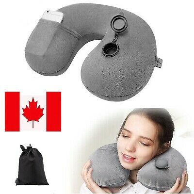 Inflatable Air Travel Pillow Cushion Neck Support flight Comfort For Univers CA