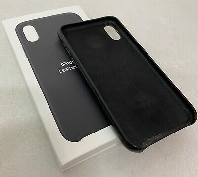 Apple iPhone X Leather Case Black schwarz Leder original Hülle MQTD2ZM/A ovp