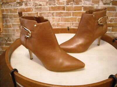 Details about  /Marc Fisher Geri Burgundy Red Leather Zip Up Flat Low Heel Ankle Boots NEW