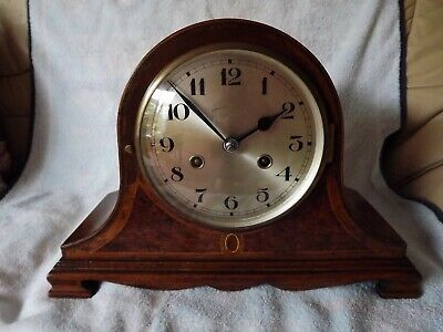 Vintage,,Chiming Mantle Clock,,Comes With A Key,,,Good Working Order,